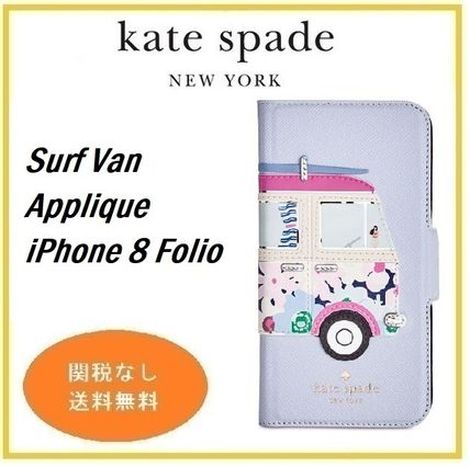 Surf Van Applique iPhone 8 Folio セール