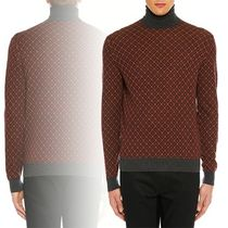 PRADA Men's Argyle Turtleneck Sweater