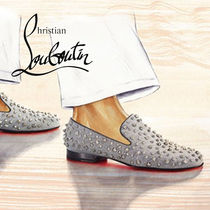 "Christian Louboutin ""Rollerboy Spikes "" シルバー シューズ"