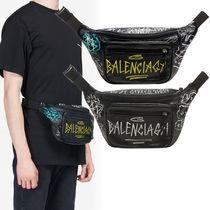 VIPセール!関税込☆【Balenciaga】Explorer belt pack graffiti