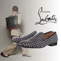 "Christian Louboutin ""Rollerboy Spikes Flat"" デニムシューズ"