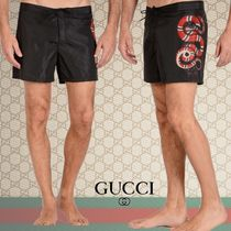 SALE数量限定★GUCCI スネークプリント ナイロン水着