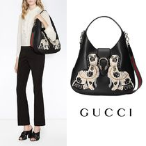 ★GUCCI★ Dionysus スパニエル刺繍トートバッグ