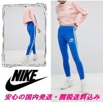 NIKE☆Archive Logo Leggings In Blue With Piping♪