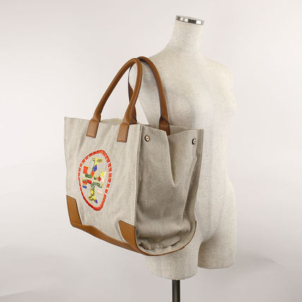 Tory Burch マザーズバッグ 返品可能 TORY BURCH ella embroidered トート【国内即発】(5)