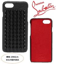 Christian Louboutin spiked textured-leather iPhone 7/8case