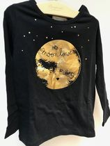 18AW【Bonpoint】moon love 長袖Tシャツ 4~6A (noir)