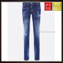 D SQUARED2(ディースクエアード) デニム・ジーパン 【ディースクエアード】Runway Straight Cropped Jeans Blue