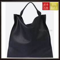 Jil Sander(ジルサンダー) トートバッグ 【ジルサンダー】Grained Leather Tote Black