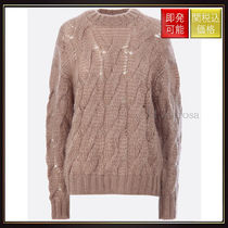 【プラダ】Cable Knit Pullover Camel