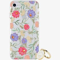 kate spade お花 バンカーリング付 iphoneケース 6/7/8plus or X