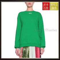 【エムエスジイエム】Logo Cotton Sweatshirt Verde