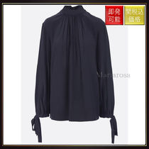 【プラダ】Crepe Chine Blouse Black