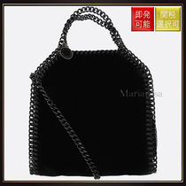 【ステラマッカートニー】Falabella Tiny Toe In Velvet Black