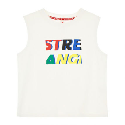 STRETCH ANGELS Tシャツ・カットソー ★STRETCH ANGELS★激カワ★Color logo sleeveless top/2色(8)
