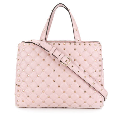 Rockstud Quilted Leather Tote bag(送料・関税込)18ss VIPSale