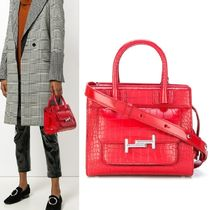 【TOD'S】Small Double T Satchel クロコ調 レッド 2WAY