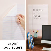 ☆Urban Outfitters ノート風ホワイトボード*壁用シール☆送関込