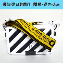【1-3日お届け】OFF WHITE Mini Diag Binder Clip ショルダー