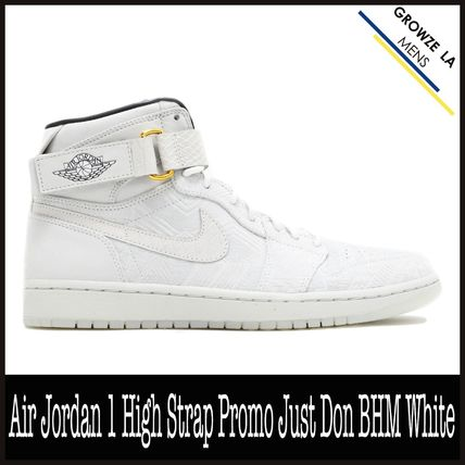 check out 49a7e f4389 Nike スニーカー ☆【NIKE】Air Jordan 1 High Strap Promo Just Don BHM White ...