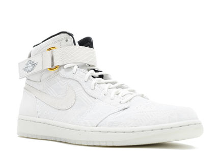 check out bdda8 fe85b ... Nike スニーカー ☆【NIKE】Air Jordan 1 High Strap Promo Just Don BHM White ...