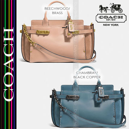 COACH★異素材ミックス ダブルスワッガー☆DOUBLE SWAGGER 25133