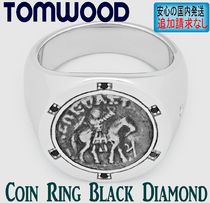 北欧発★Tom Wood★リング Coin Black Diamond Woman