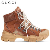 【正規品保証】GUCCI★18秋冬★40MM GG CANVAS & SUEDE BOOTS