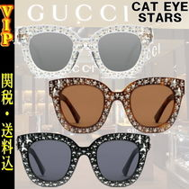 "◆◆VIP◆◆  GUCCI  ""CAT EYE"" SUNGLASSES WITH STARS /送税込"