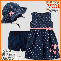 Baby Girl ∴ Carter's ∴ 3点セット・ドット&ゾウ
