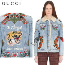 【正規品保証】GUCCI★18秋冬★DENIM & SHEARLING JACKET