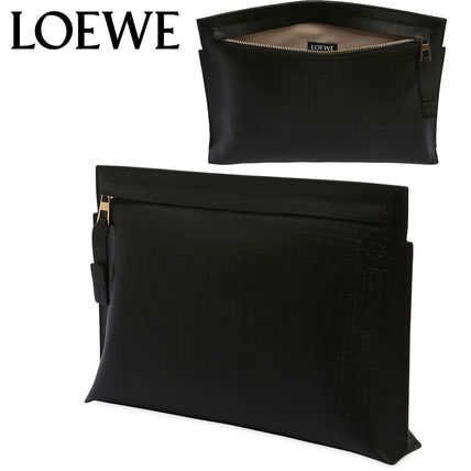 LOEWE クラッチバッグ 【正規品保証】LOEWE★18秋冬★T LEATHER POUCH_BLACK