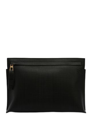 LOEWE クラッチバッグ 【正規品保証】LOEWE★18秋冬★T LEATHER POUCH_BLACK(3)