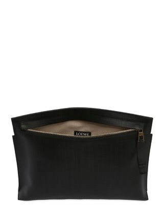 LOEWE クラッチバッグ 【正規品保証】LOEWE★18秋冬★T LEATHER POUCH_BLACK(4)