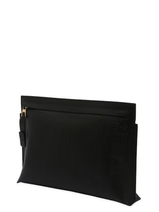 LOEWE クラッチバッグ 【正規品保証】LOEWE★18秋冬★T LEATHER POUCH_BLACK(5)