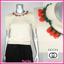 GUCCI★グッチ★素敵!SHORT SLEEVE BERRIES DETAIL KNIT