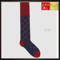 【グッチ】Interlocking G Cotton Socks Navy Cotton