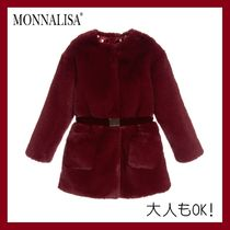 大人OK!! MONNALISA CHIC★Ruby Red ファーコート★12-16Y