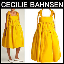 CECILIE BAHNSEN(セシリエバーンセン) ワンピース CECILIE BAHNSEN〓Bey ベルベット イエロードレス