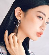 【ROWKY】 ROWKY  two rings chain earring EXOのシウミン着用
