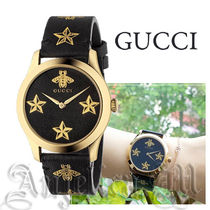 ★安心追跡付き★GUCCI G-Timeless BLACK LEATHER YA1264055