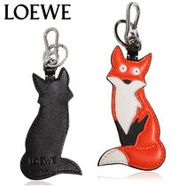 【正規品保証】LOEWE★18秋冬★FOX CHARM LEATHER KEY CHAIN
