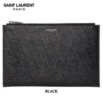 【正規品保証】SAINT LAURENT★18秋冬★GRAINED LEATHER POUCH