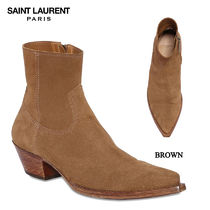 【正規品保証】SAINT LAURENT★18秋冬★40MM SUEDE ANKLE BOOTS