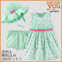 Baby Girl ∴ Carter's ∴ 3点セット・ミント&フラミンゴ