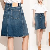 ACNE STUDIOS Mid blue shadow skirt