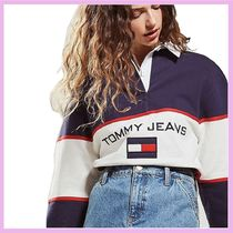 Tommy Jeans トミージーンズ ラグビーシャツ ポロシャツ 紺