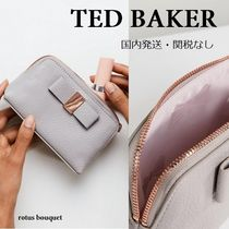 TED BAKER(テッドベーカー) メイクポーチ 【送料込】TED BAKER★リボン付ミニメイクポーチ/grey