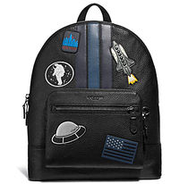 ☆COACH☆West BACKPACK with VARSITY STRIPE AND SPACE PATCHES