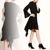 Chloe クロエ Black dress with assymetrical hem ワンピース